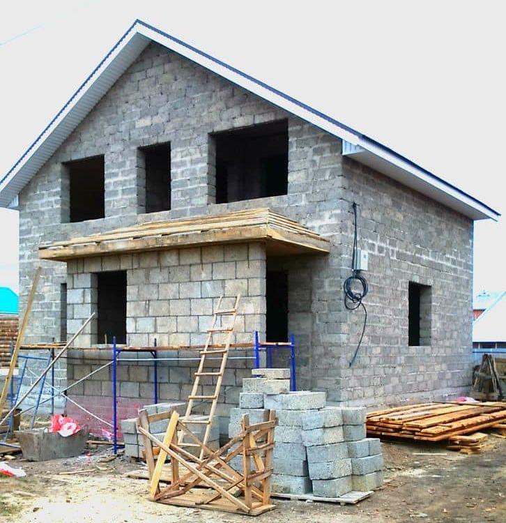 Как строить дом из арболитовых блоков своими руками 528