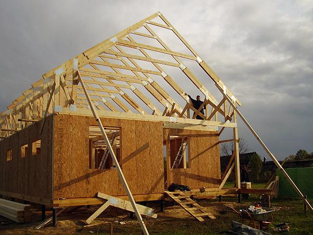 Как построить дом своими руками по каркасной технологии 74